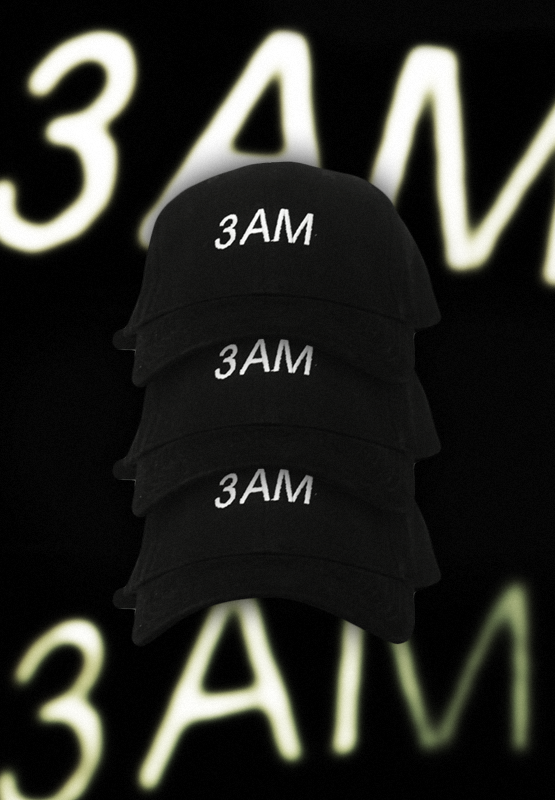 3AM EMBROIDERED CAP